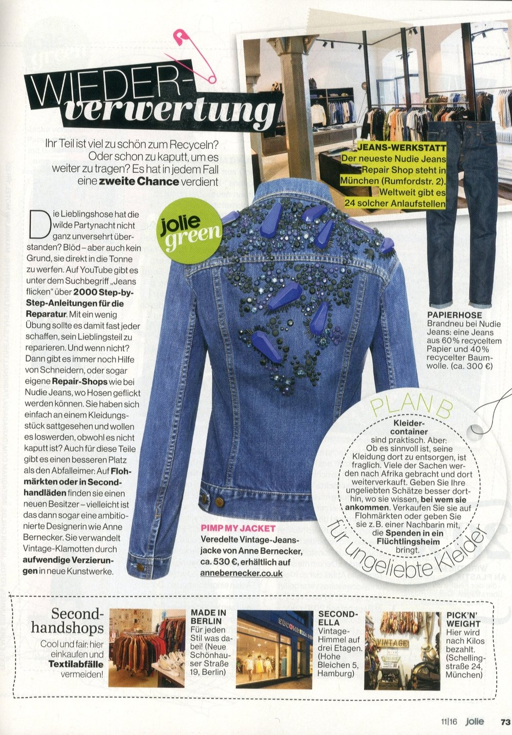 Pinball Jacket in Indigo featured in Jolie