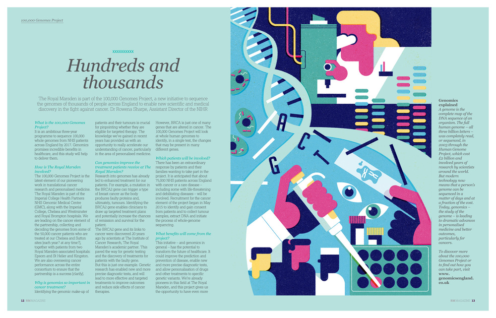 dale edwin murray freelance illustrator illustration royal marsden hospital editorial