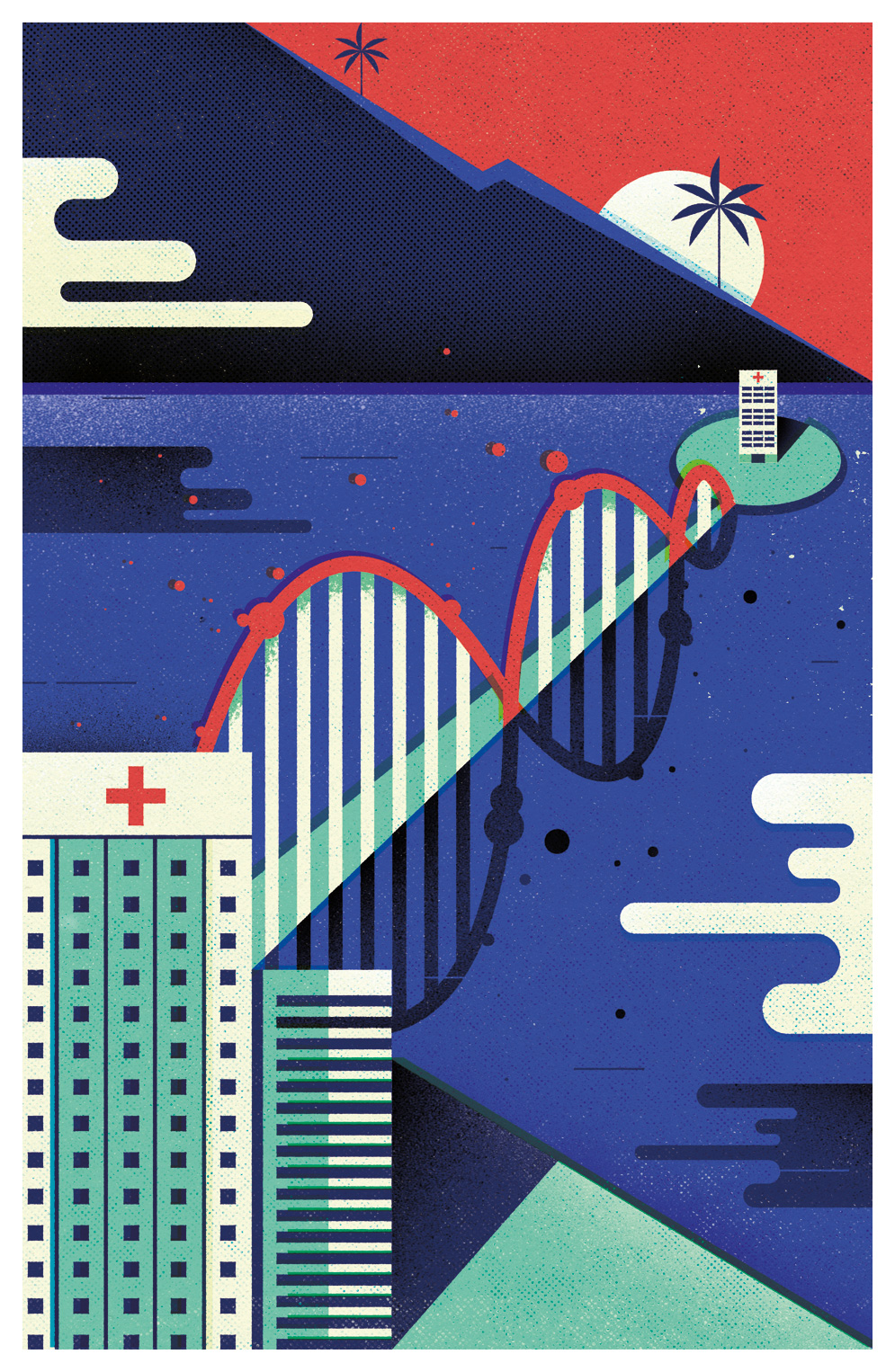 freelance illustrator   dale edwin murray conceptual editorial genome magazine illustration