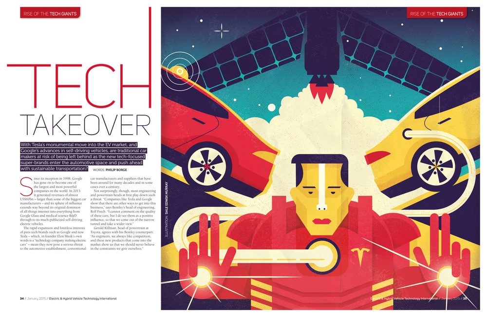 freelance illustrator dale edwin murray conceptual editorial electric & hybrid magazine illustration