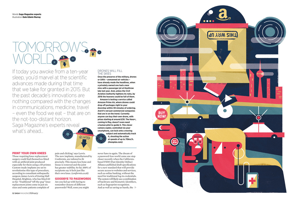 freelance illustrator dale edwin murray conceptual editorial saga magazine illustration