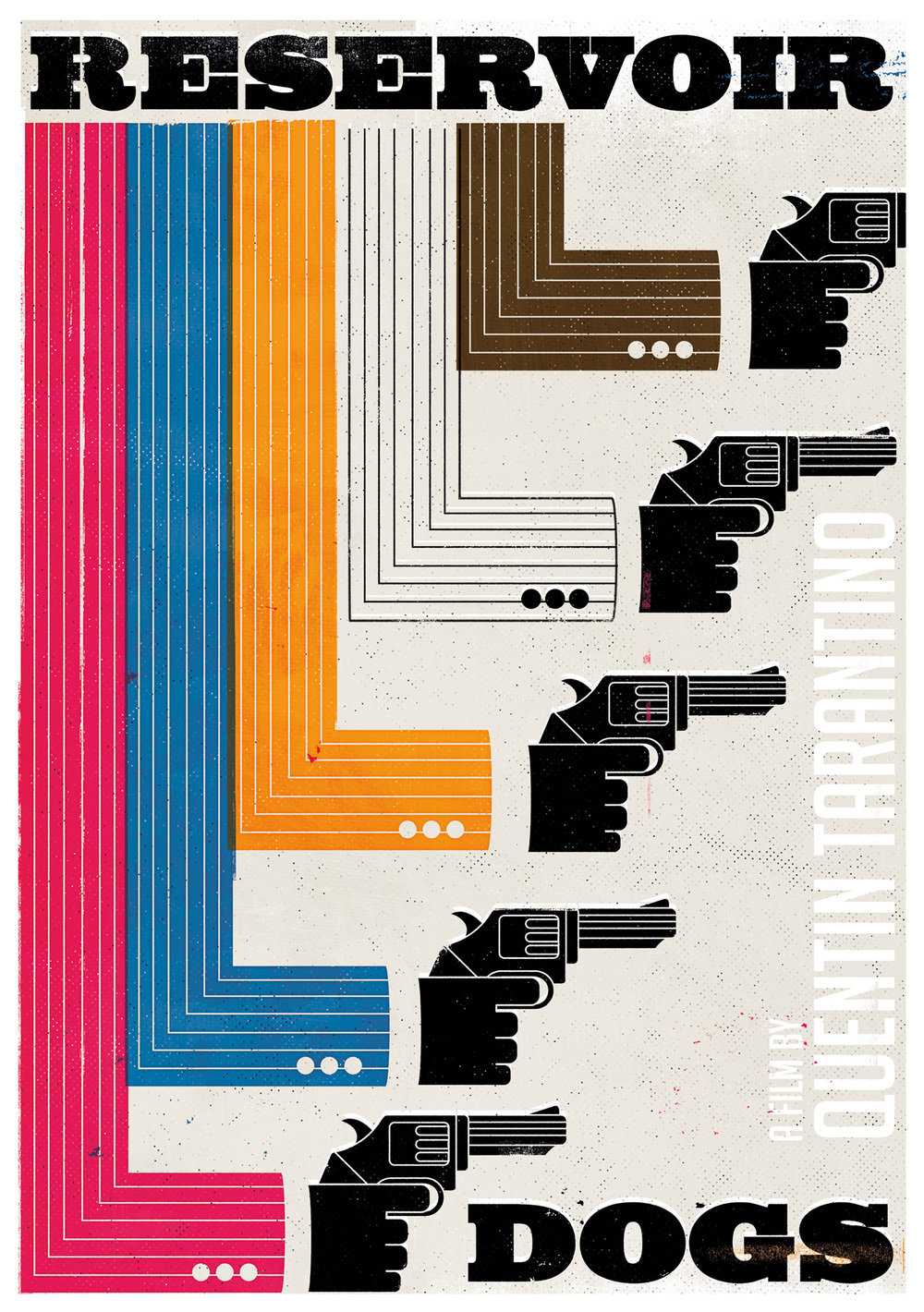 freelance illustrator dale edwin murray conceptual reservoir dogs poster illustration