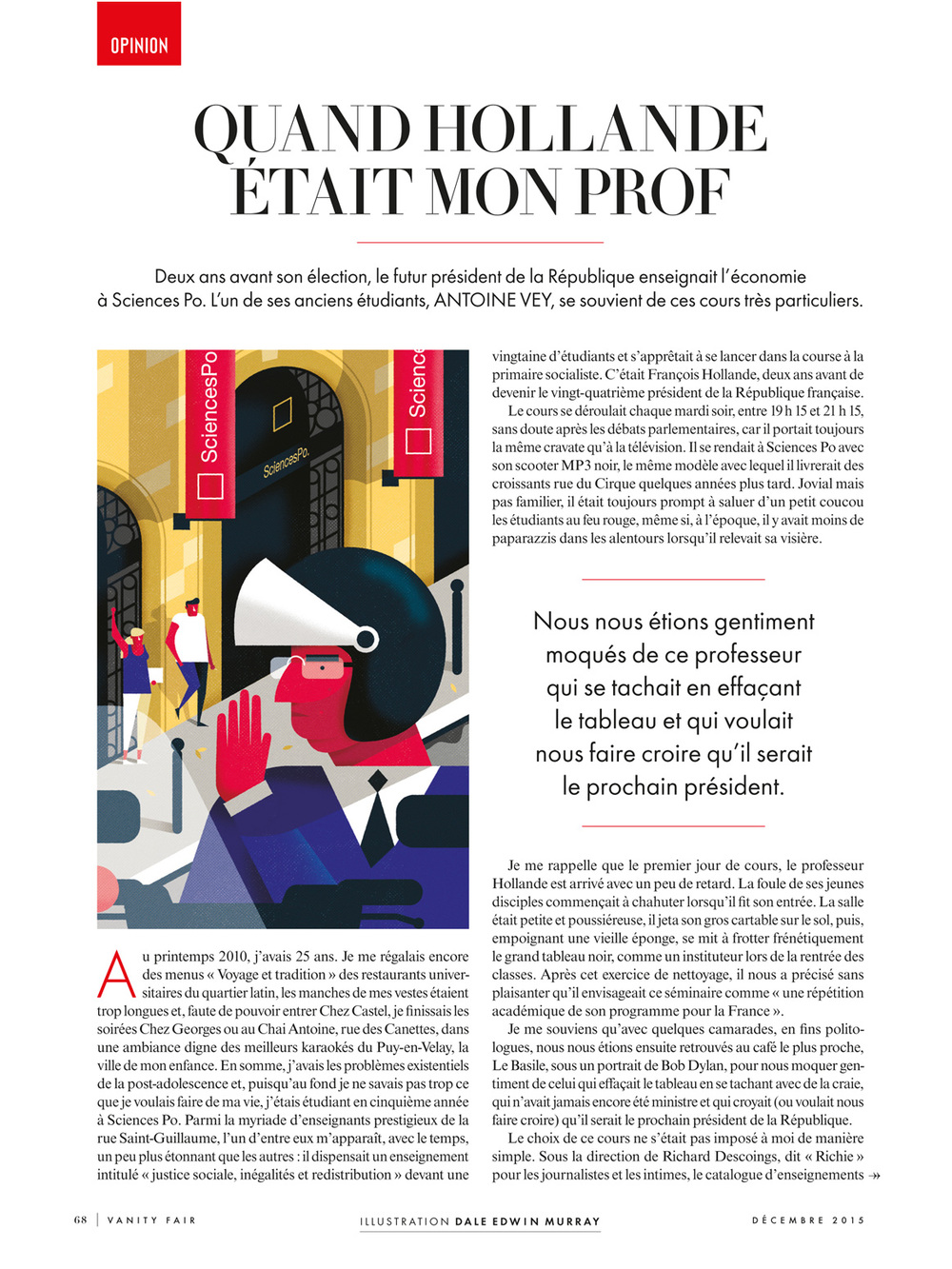 Freelance illustrator dale edwin murray vanity fair france editorial conceptual magazine illustration