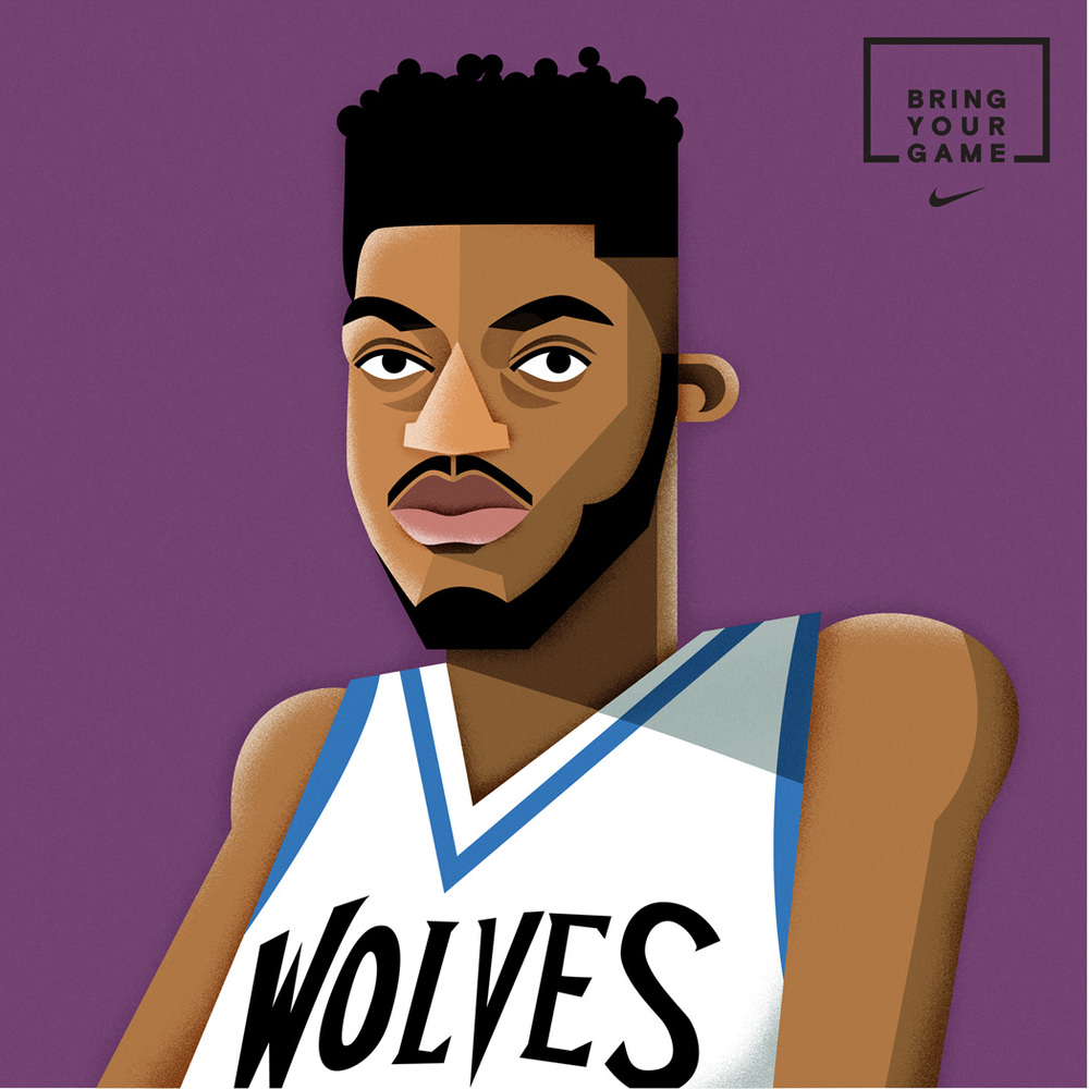 freelance illustrator dale edwin murray nike basketball all star illustration
