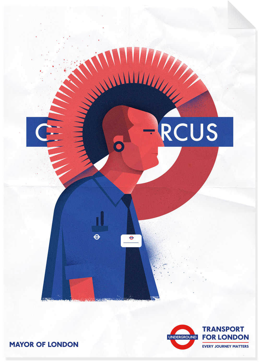 dale edwin murray freelance illustrator personal tfl london underground poster illustration