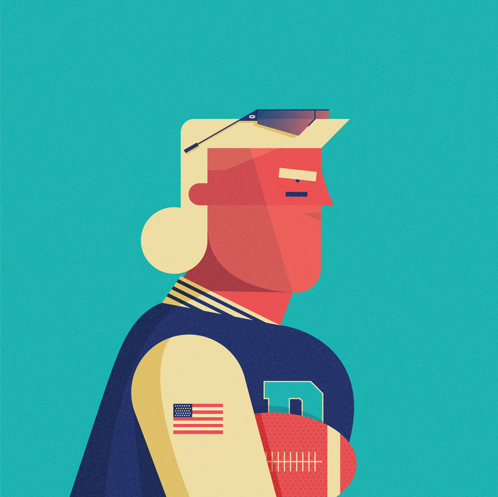 freelance illustrator dale edwin murray the americans personal character illustrations
