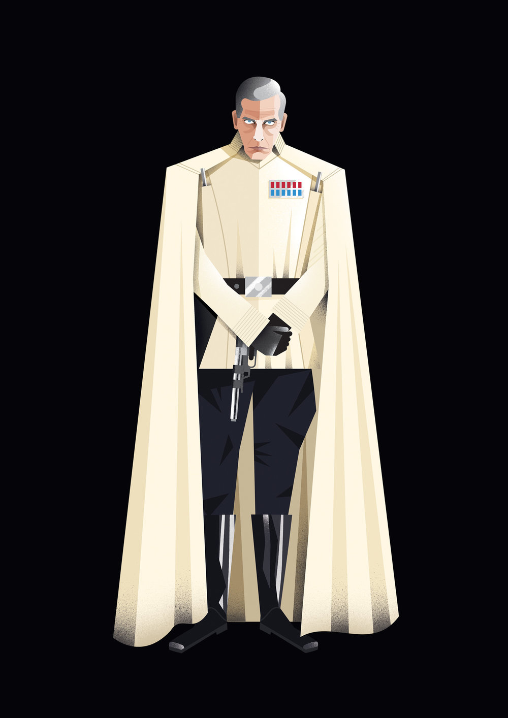 freelance illustrator dale edwin murray star wars rogue one disney complex illustration orson krennic