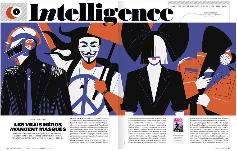 dale edwin murray freelance illustrator GQ France magazine illustration