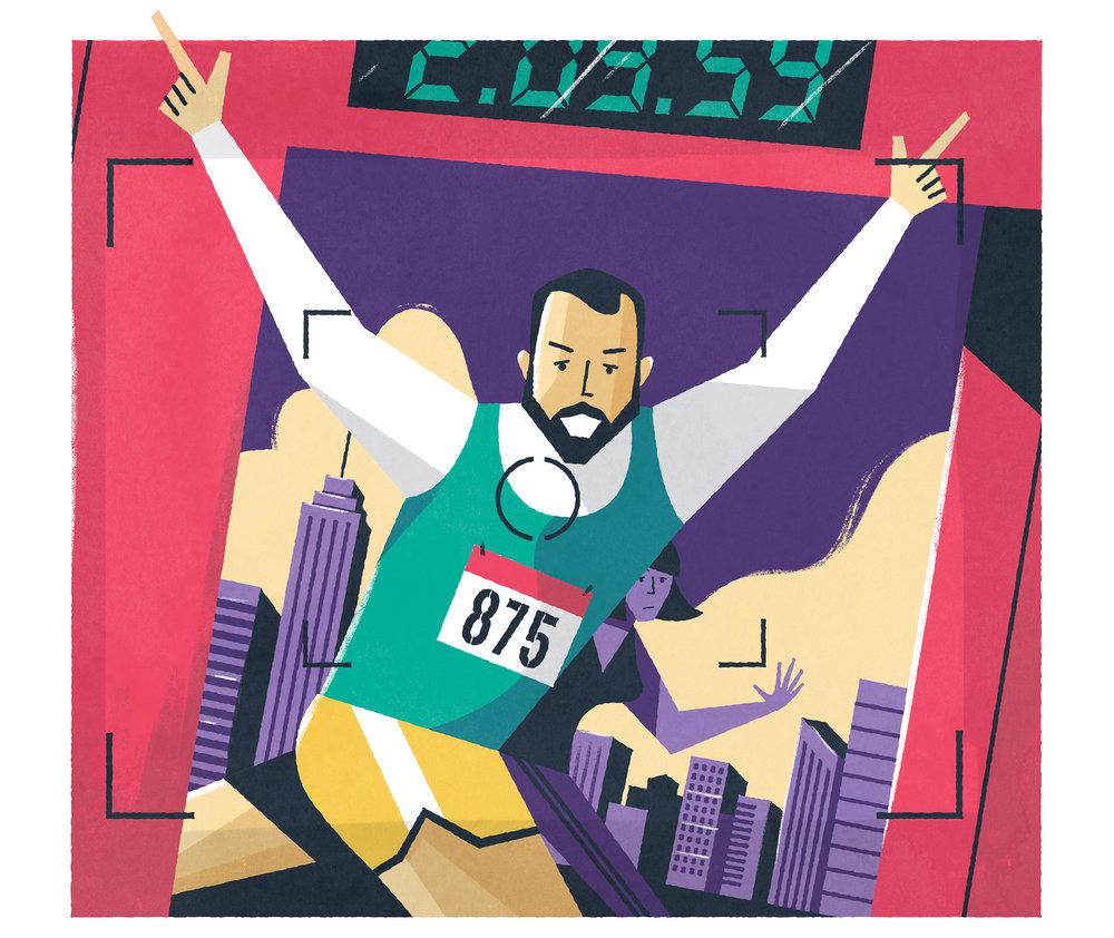 dale edwin murray freelance illustrator runners world magazine editorial illustration