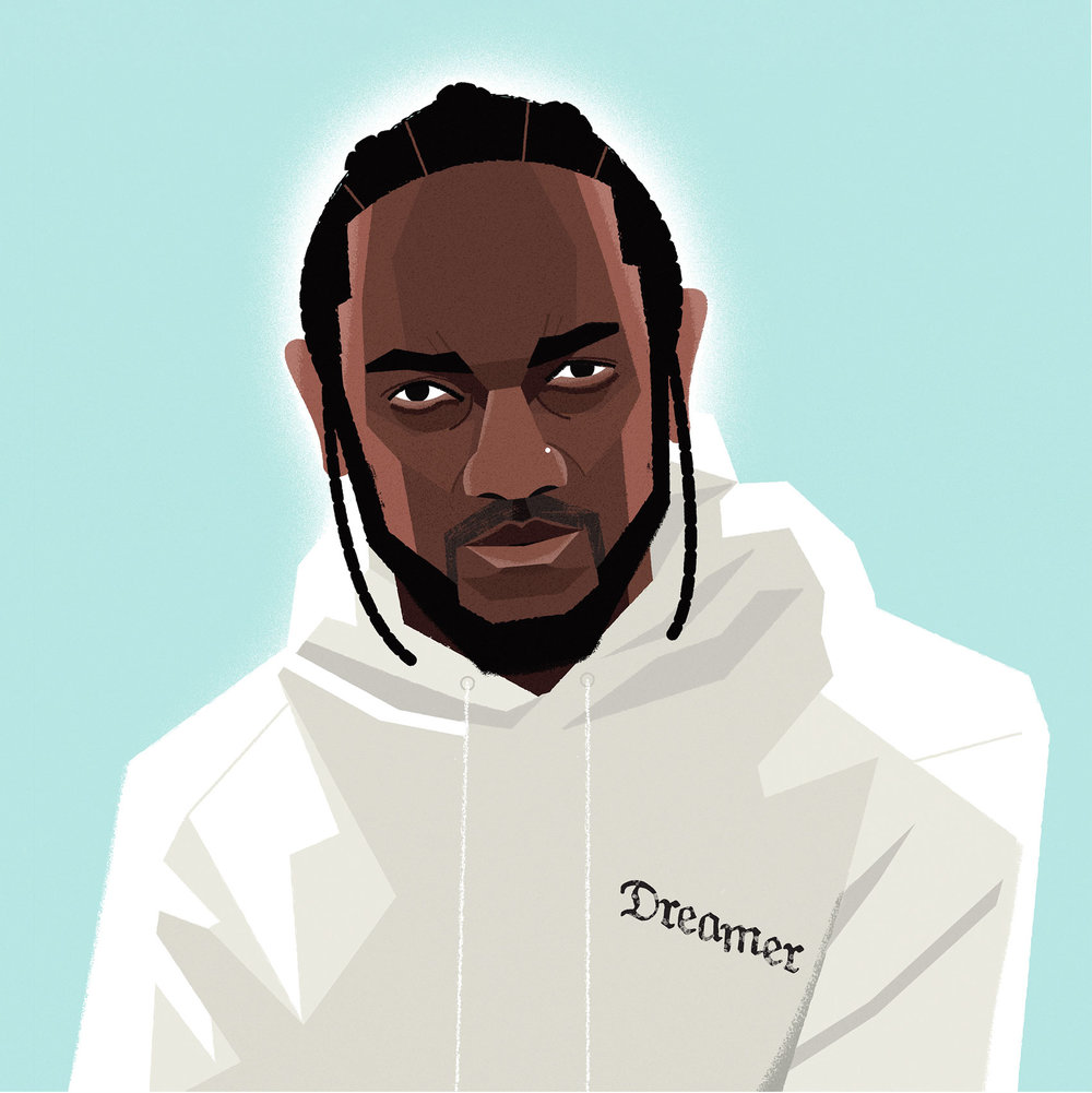 freelance illustrator dale edwin murray editorial conceptual illustration complex kendrick lamar portrait