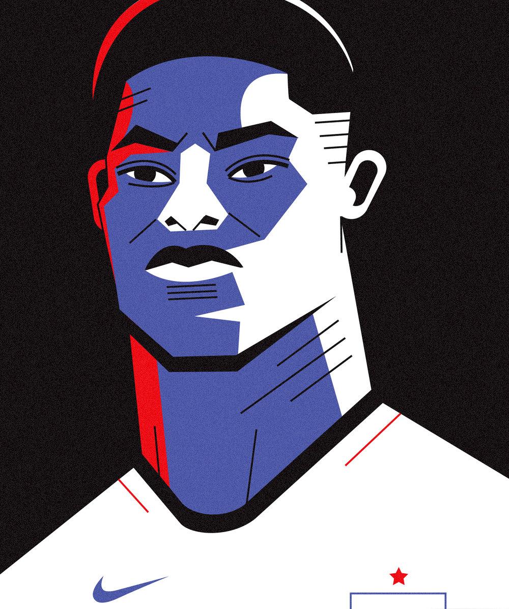 dale edwin murray freelance illustrator personal marcus rashford portrait illustration