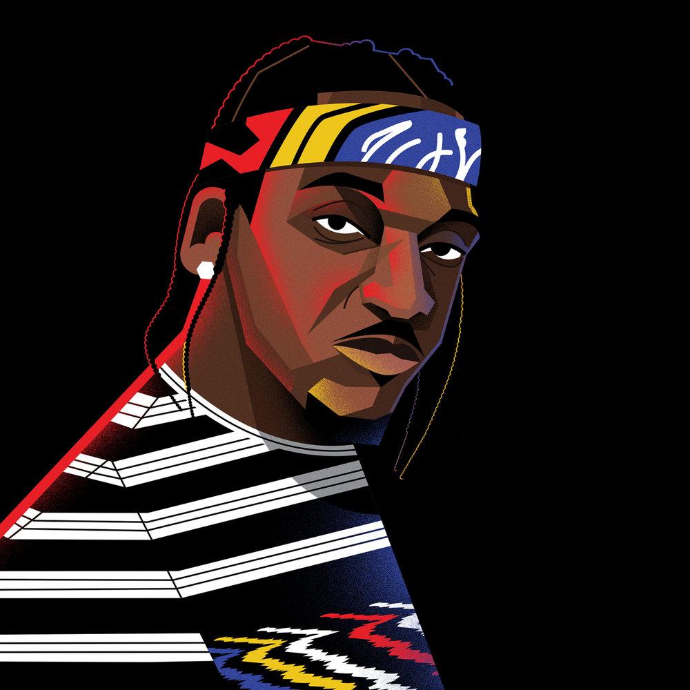 dale edwin murray freelance illustrator complex pusha t hip hop illustration