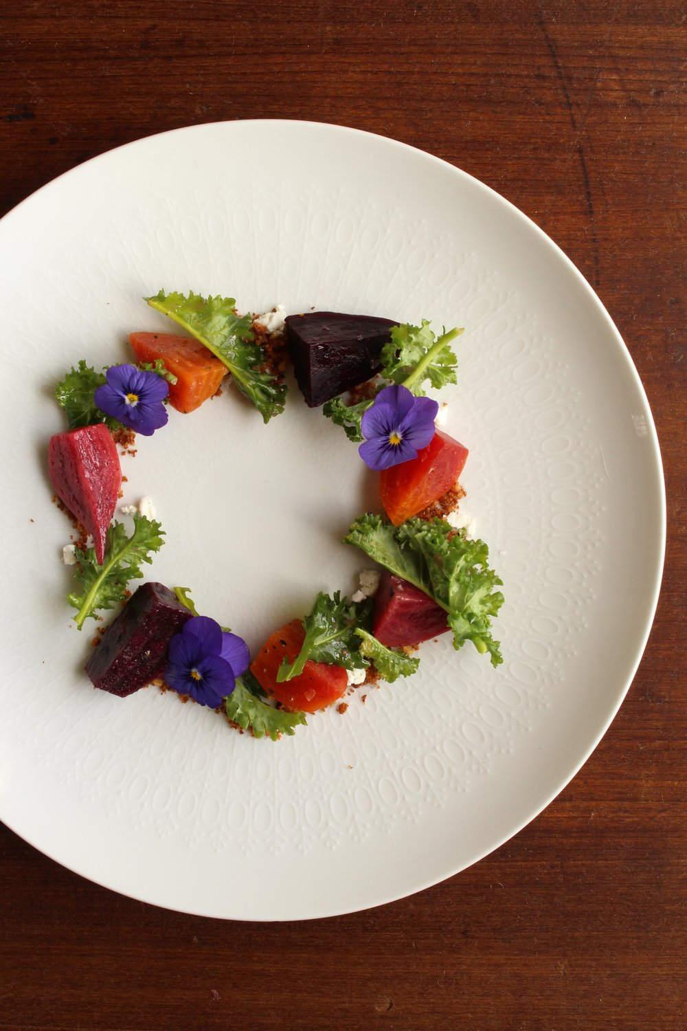 Beet and dirt salad