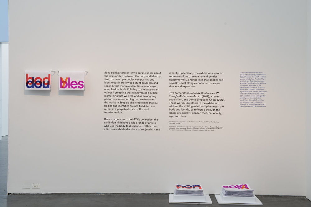 Installation view,  Body Doubles , MCA Chicago Photo: Nathan Keay, © MCA Chicago