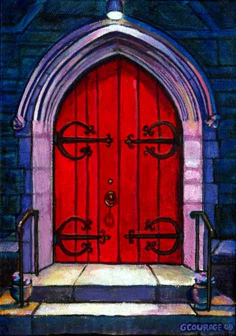 DOORWAY: CLOSED painting by George Courage