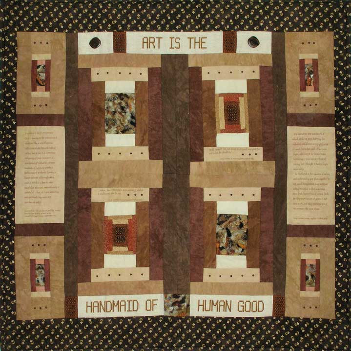 LOWELL LOGS quilt by Barbara Pero Kampas