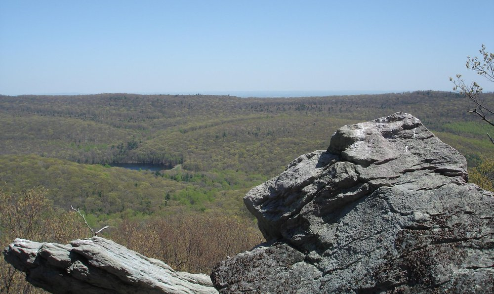 The view from Chimney Rocks