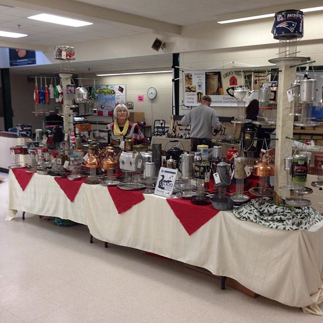 Craft Fair at Gardiner Middle School from 9:00 to 2:00. #recycling #recycled #birdstagram #birds #repurposed