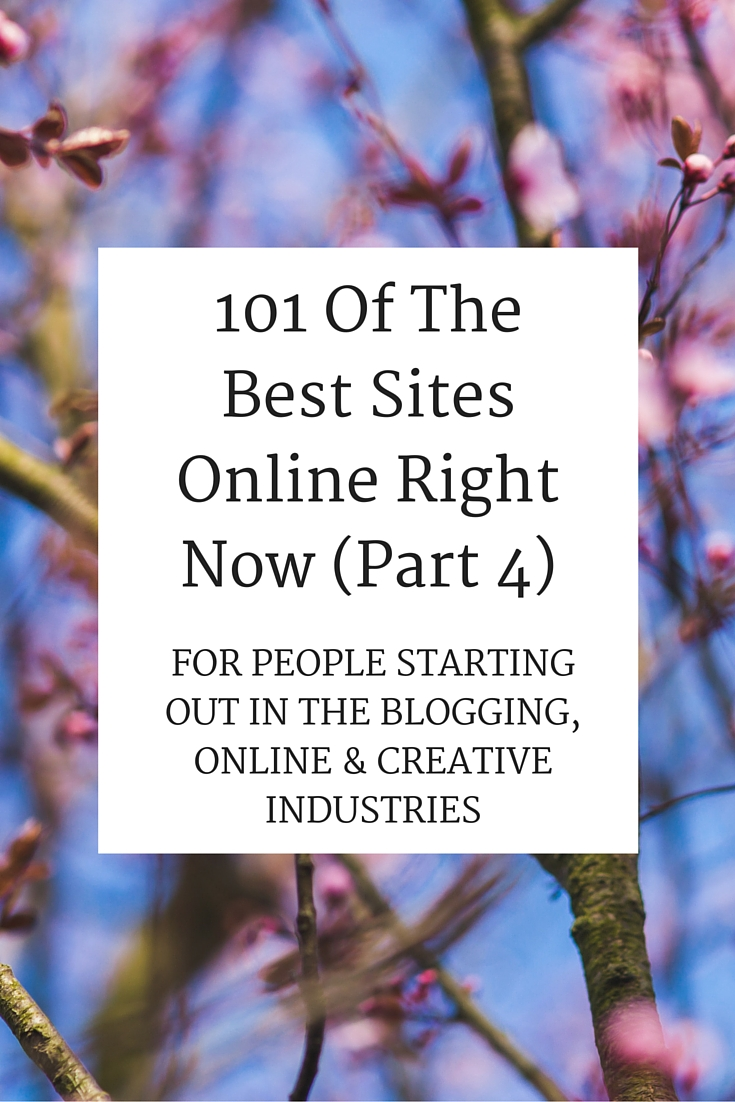 101 Of The Best Sites Online Right Now (Part 4)