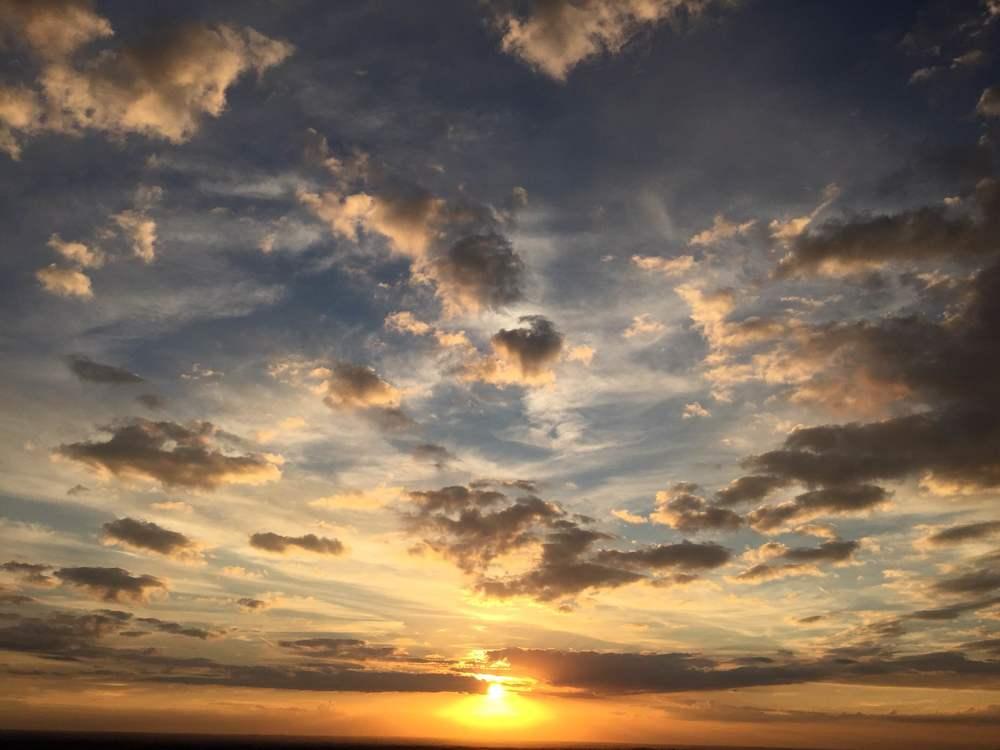 An end of summer sunset