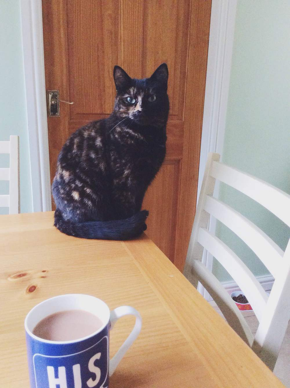 A partner at breakfast time