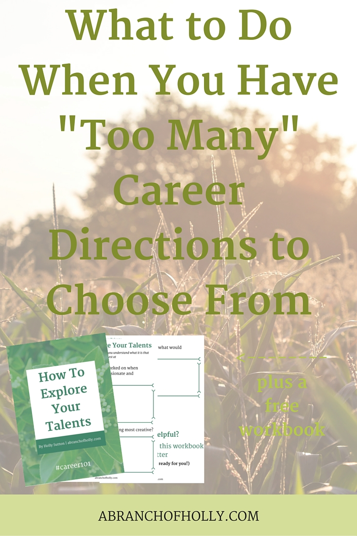 "What to Do When You Have ""Too Many"" Career Directions to Choose From"