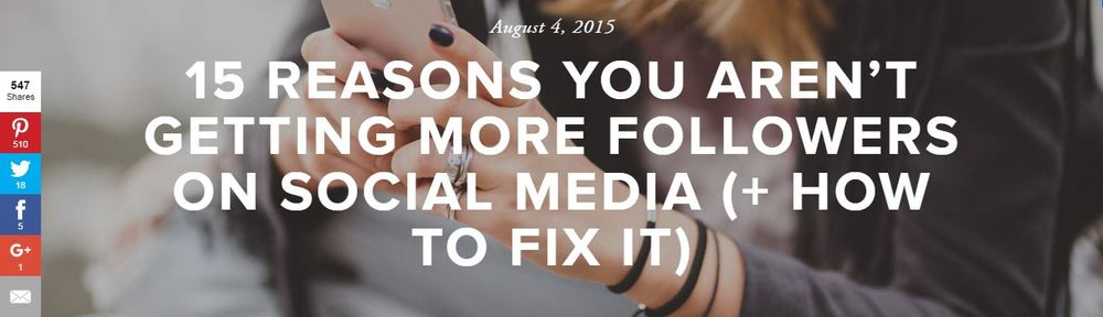 15 Reasons You Aren't Getting More Followers on Social Media