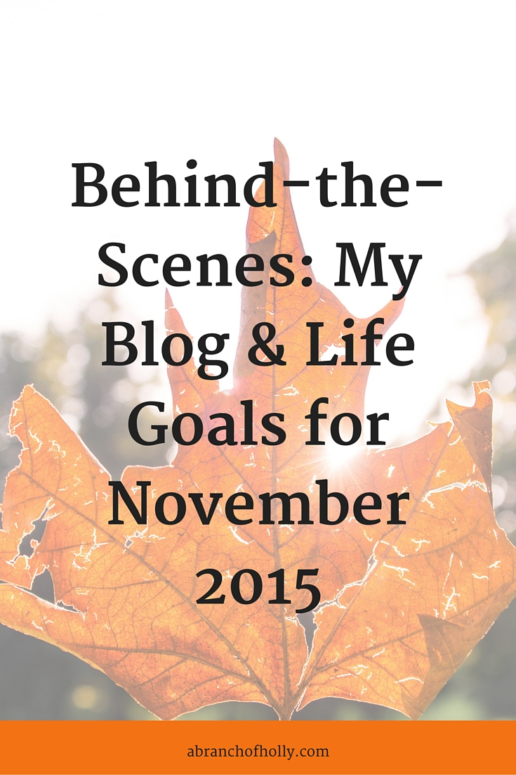 Behind-the-Scenes: My Blog & Life Goals for November 2015