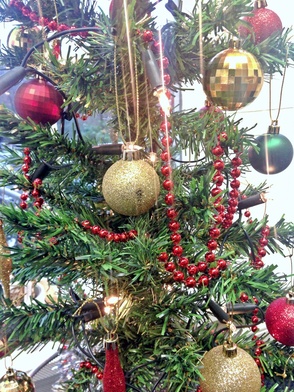 Our Christmas tree at work