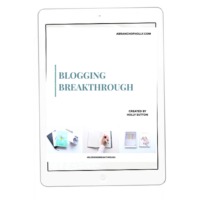 Blogging Breakthrough