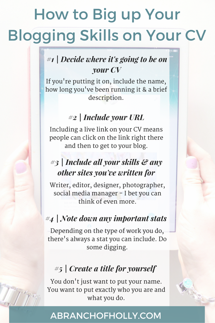 How to Big up Your Blogging Skills on Your CV