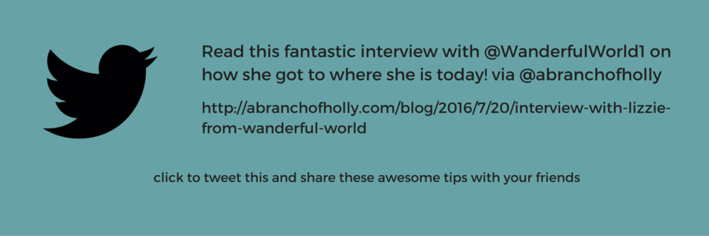 how i got to where i am today - an interview with lizzie from wanderful world