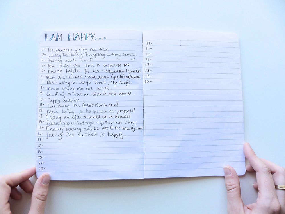 happy list bullet journal