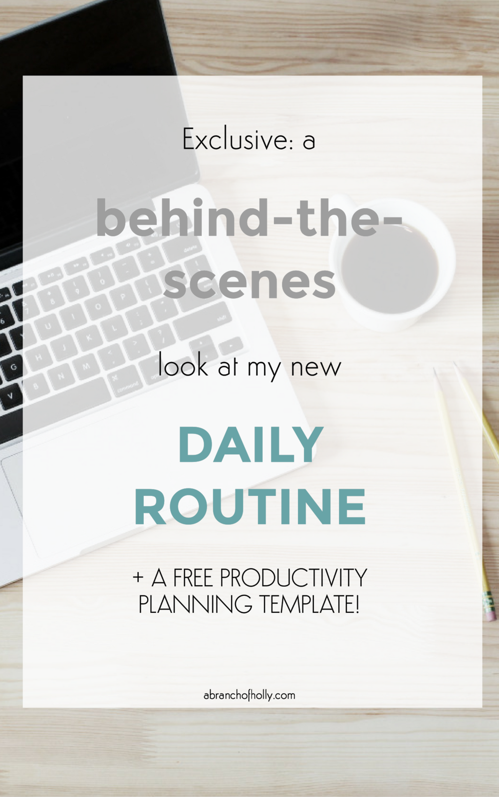 exclusive: a behind-the-scenes-look at my new daily routine