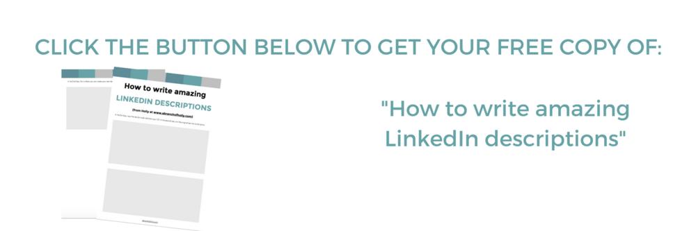 how to write linkedin descriptions