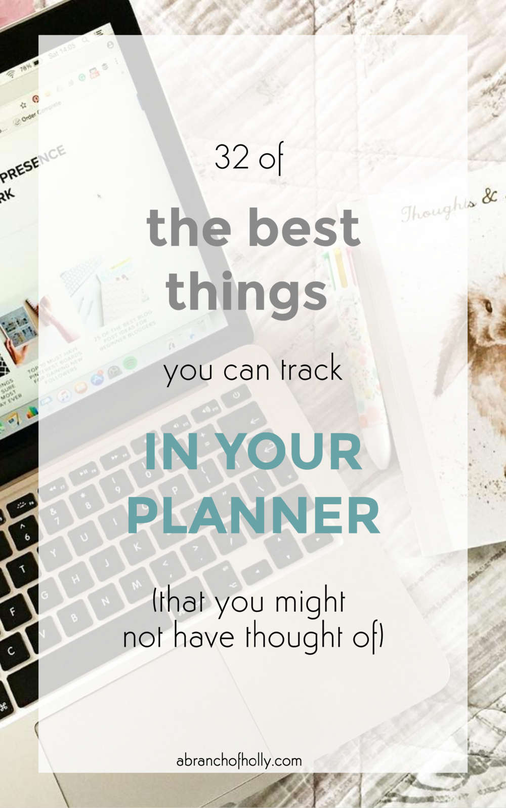 best things to track in your planner