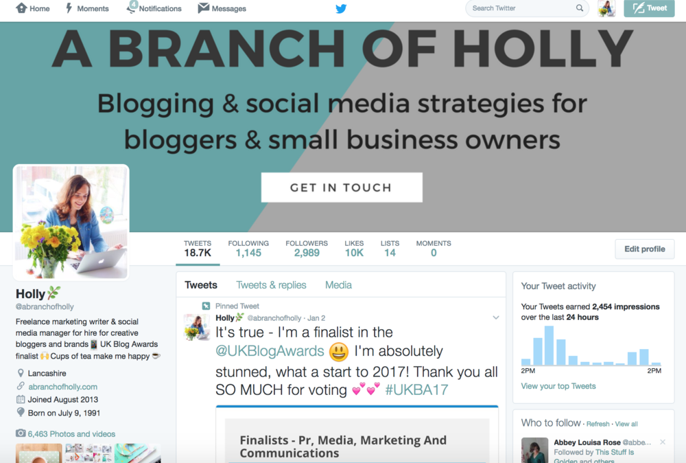 how to use twitter for blog