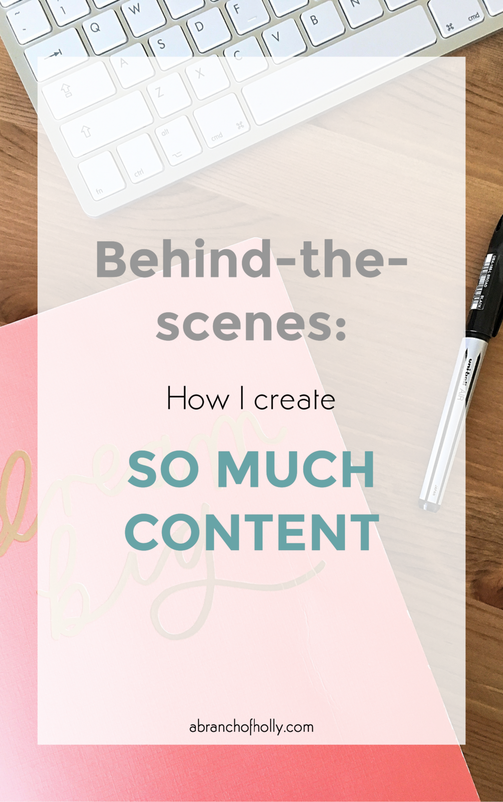 how i create so much content