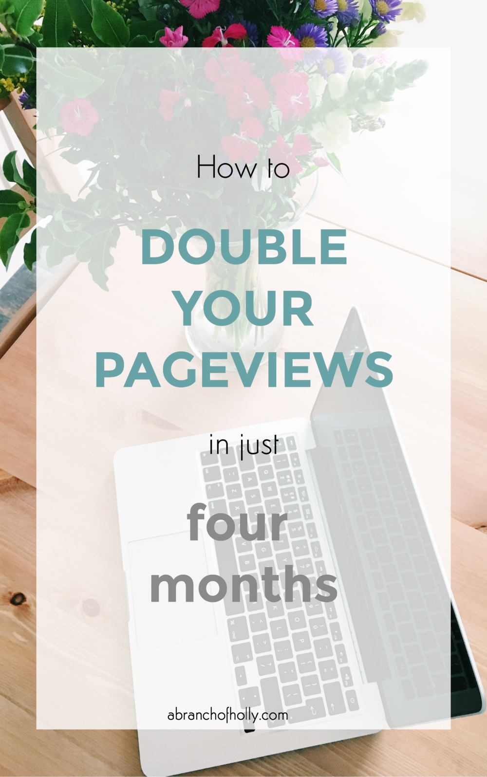 double pageviews in four months