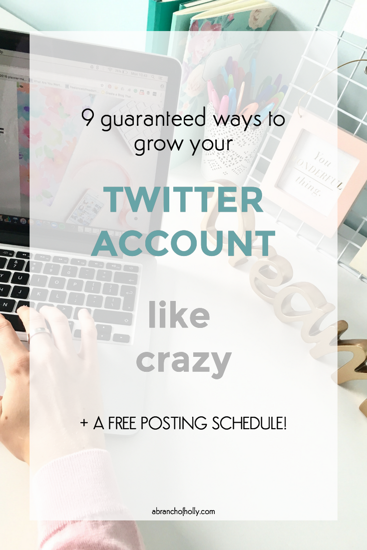 grow twitter account like crazy