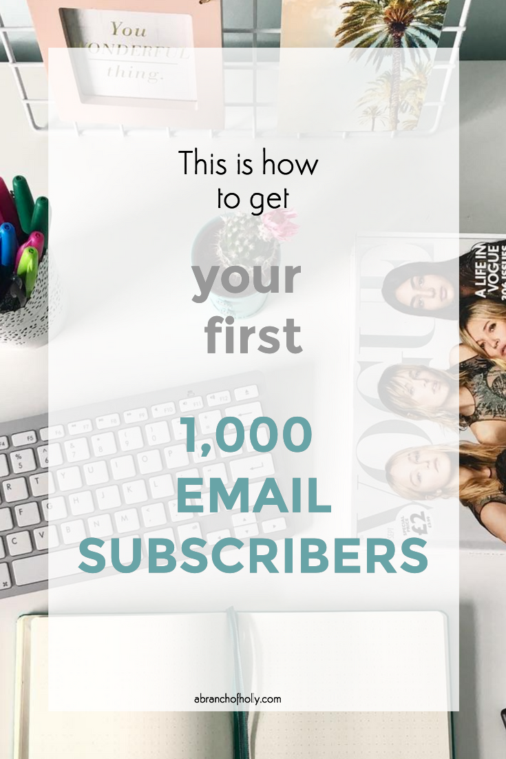 this is how to get your first 1,000 email subscribers
