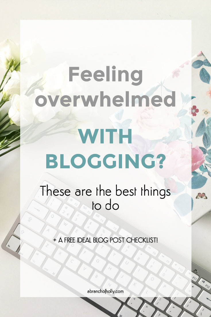 FEELING OVERWHELMED WITH BLOGGING
