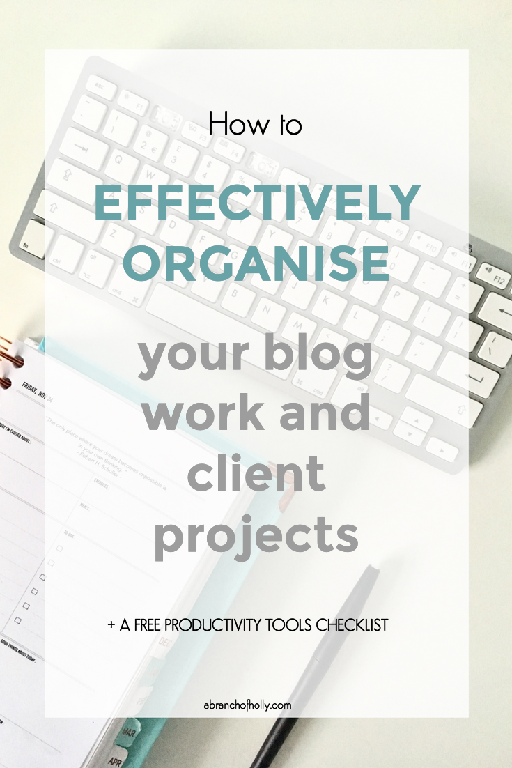 organise your blog work and client projects