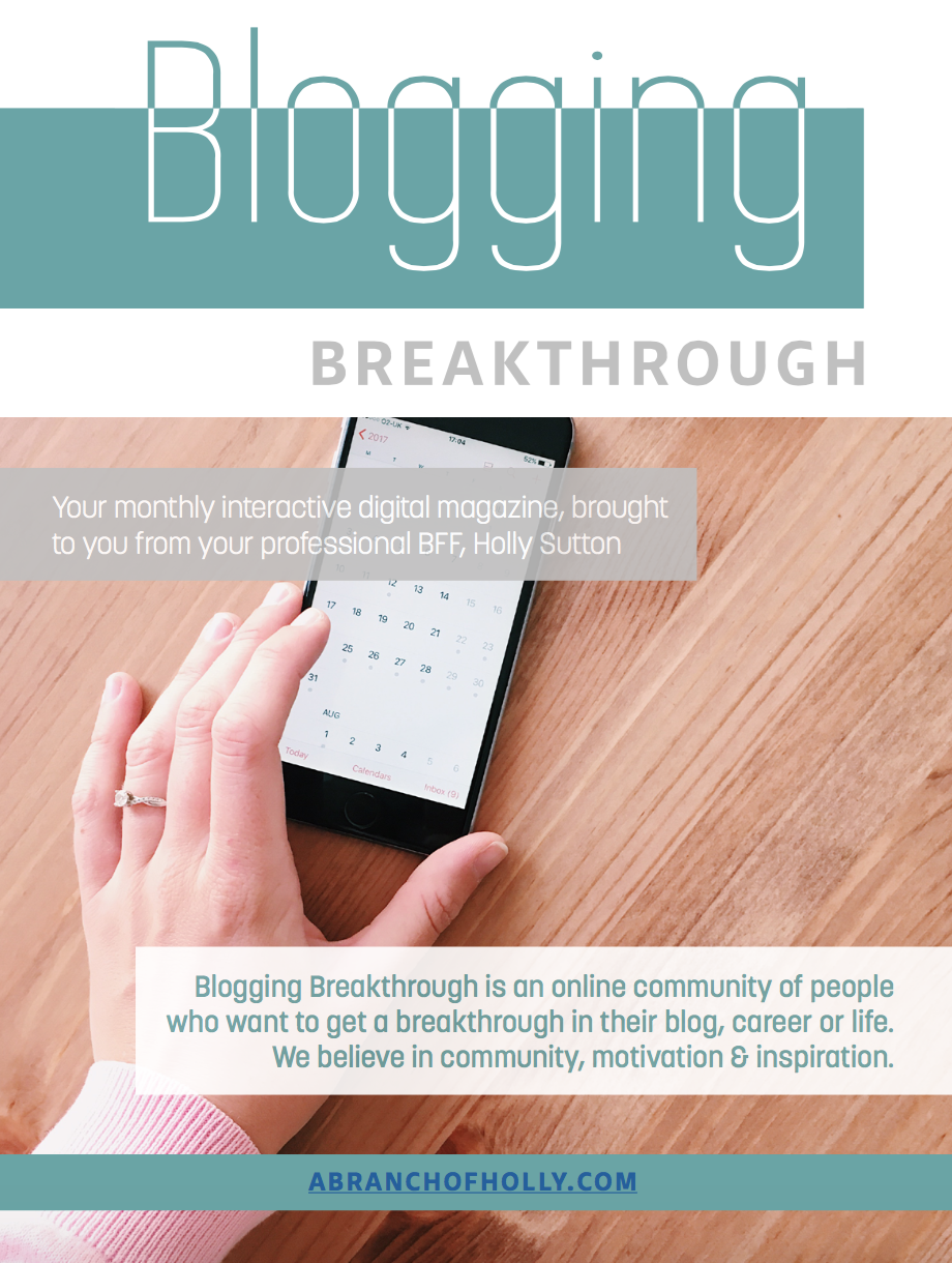 a branch of holly blogging breakthrough magazine