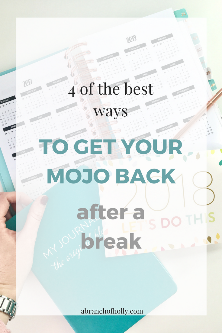Here are a few effective, realistic ways you (and I) can try right now to regain your mojo and start 2018 in the best way possible - A Branch Of Holly