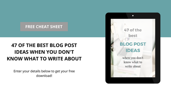 blog content ideas free cheat sheet
