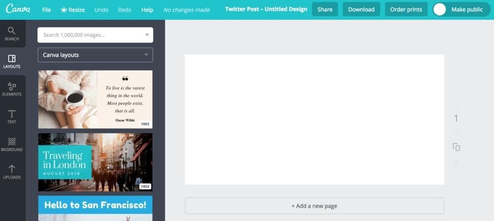 best blogging tools - canva