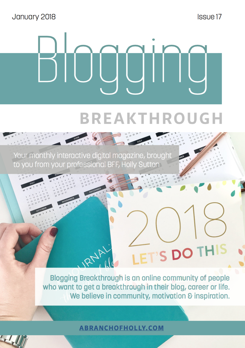 blogging breakthrough magazine january 2018