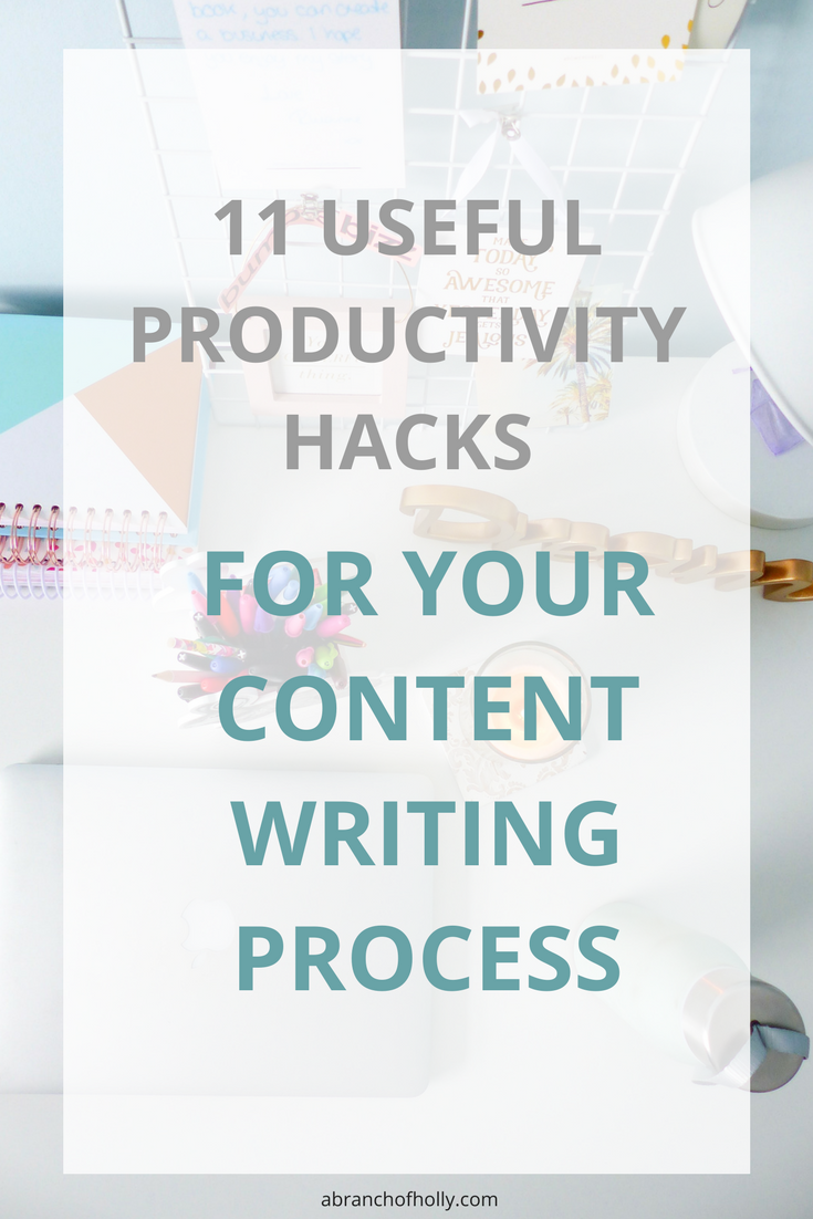 11 useful productivity hacks for your content creation process