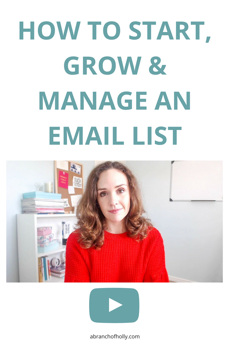 I completely stand by the importance of email marketing for bloggers, purely because of the success it's brought me. So this video is going to teach you how to start, grow and manage an email list.